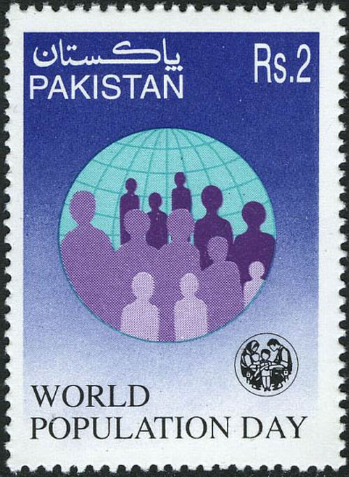 Pakistan Stamps 1997 World Population Day