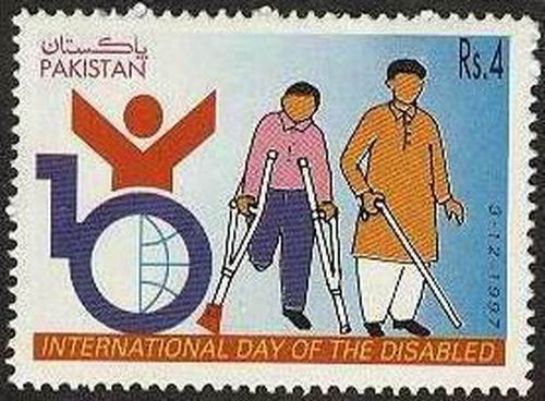 Pakistan Stamps 1997 International Day of the Disabled