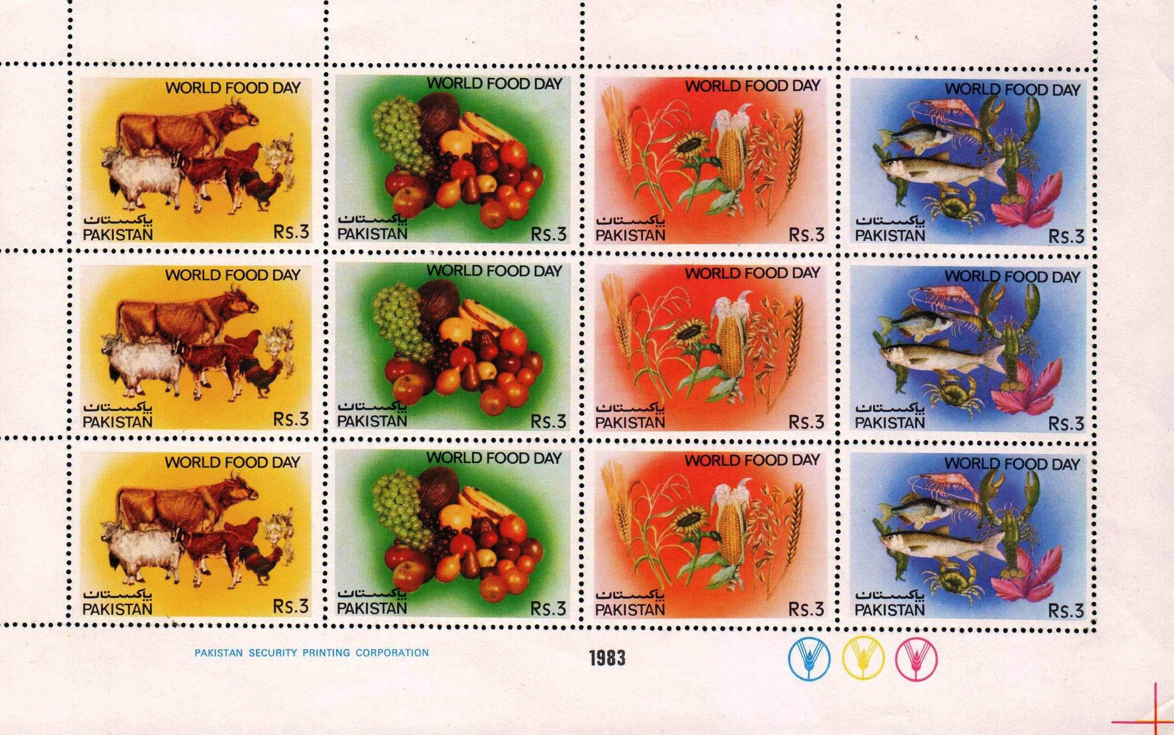 Pakistan Stamp Sheet 1983 World Food Day MNH