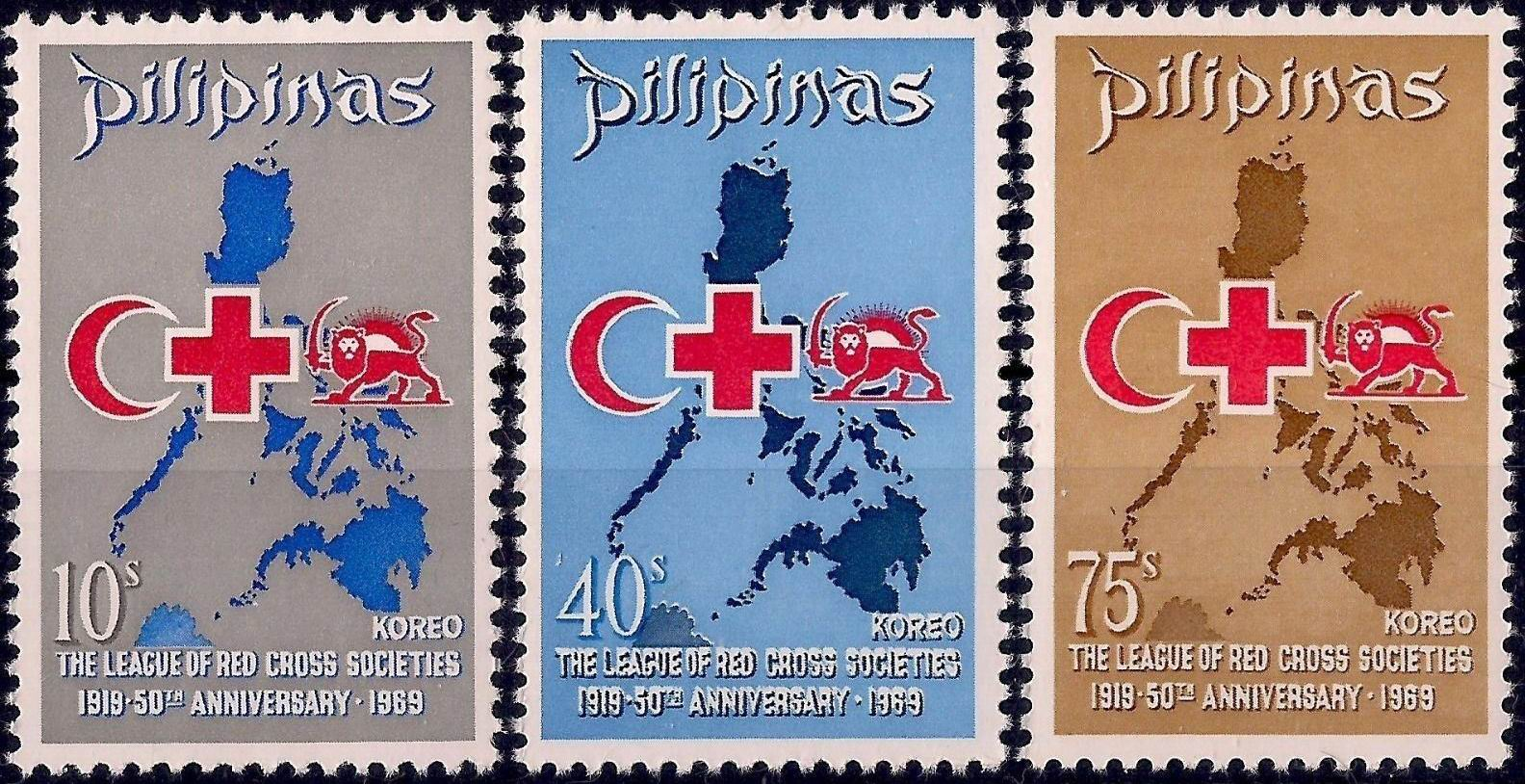Philippines 1969 Stamps Anniversary League Of Red Cross Society