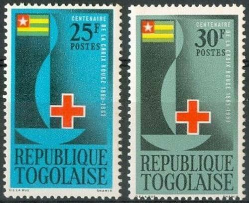 Togolaise 1963 Stamps Red Cross Centenary MNH
