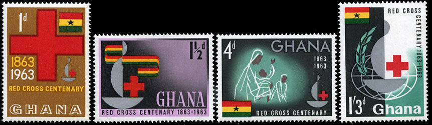 Ghana 1963 Stamps Red Cross Centenary