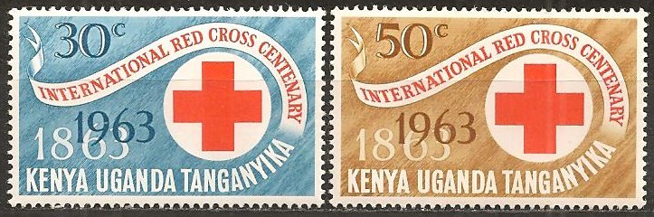 KUT 1963 Stamps Red Cross Centenary