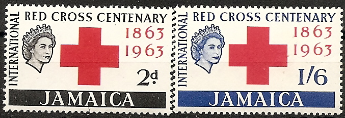 Jamaica 1963 Stamps Red Cross Centenary