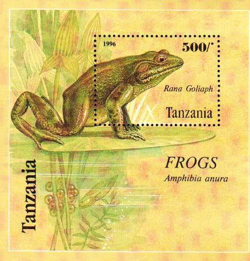 Tanzania 1995 S/Sheet Wildlife Protection Frogs