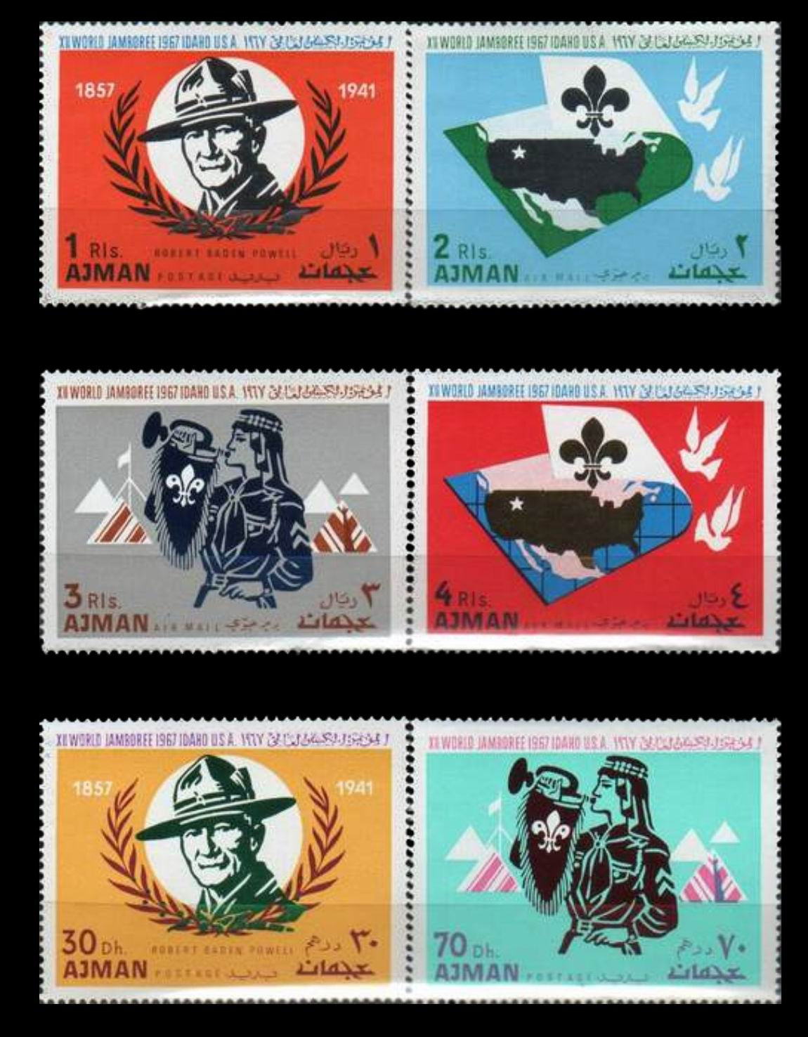 Ajman 1967 12th World Scout Jamboree MNH