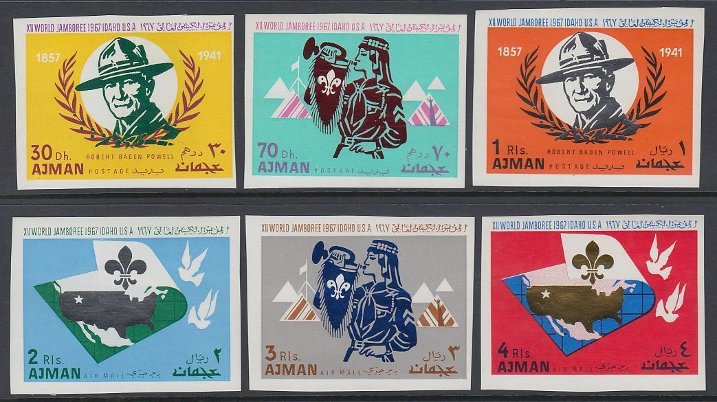 Ajman 1967 12th World Scout Jamboree Imperf MNH