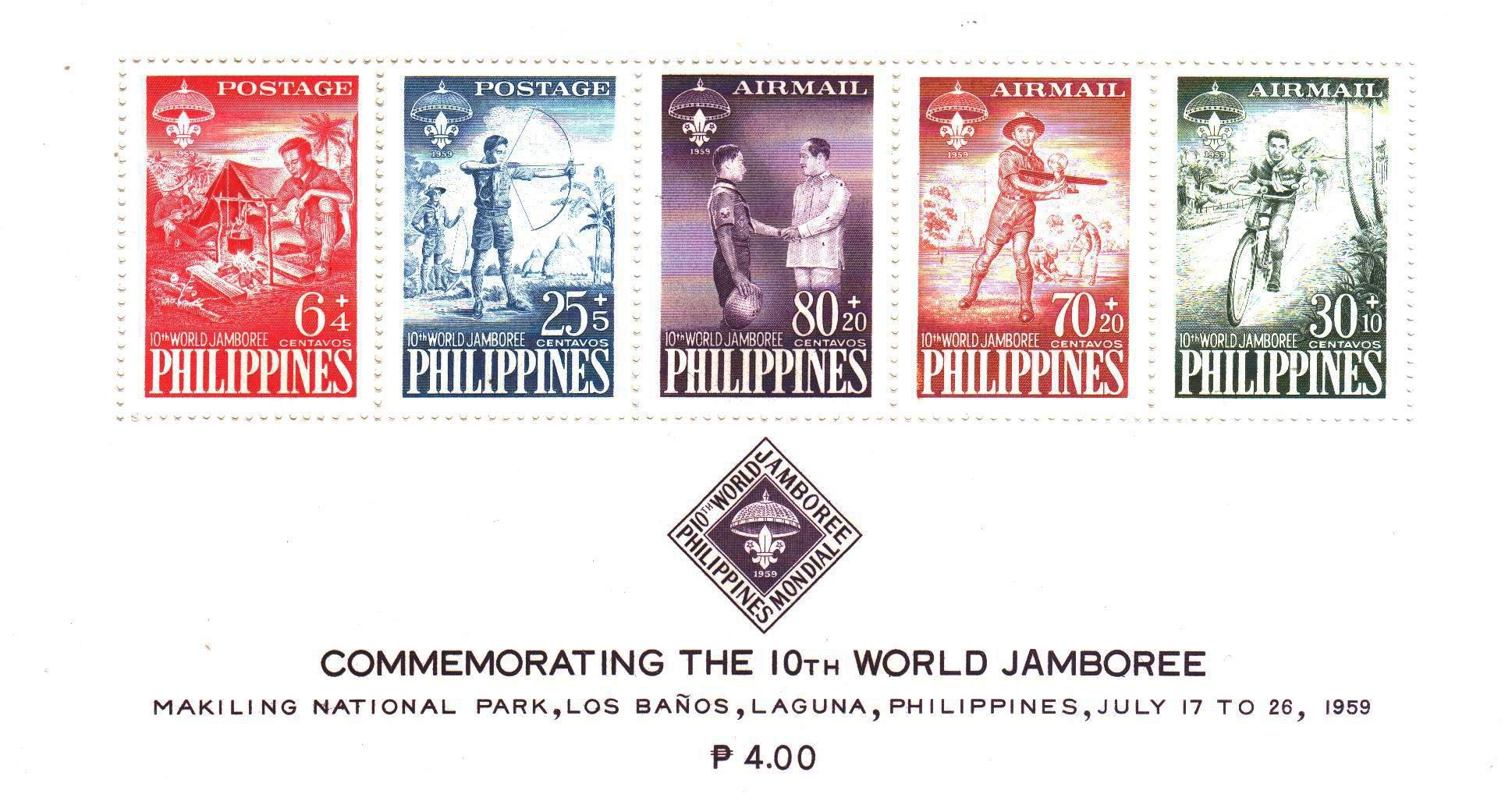 Philippines 1959 Stamps World Scout Jamboree MNH