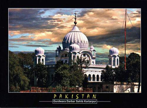 Pakistan Beautiful Postcard Sikh Gurdwara Darbar Sahib