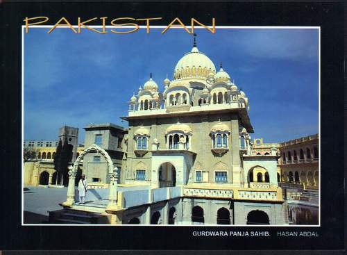 Pakistan Beautiful Postcard Sikh Gurdwara Panja Sahib
