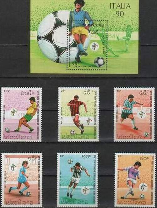 Laos 1990 S/Sheet & Stamps World Cup Football Championship