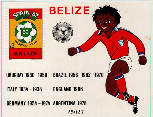 Belize 1982 Stamps S/Sheet World Cup Football Soccer Spain 82