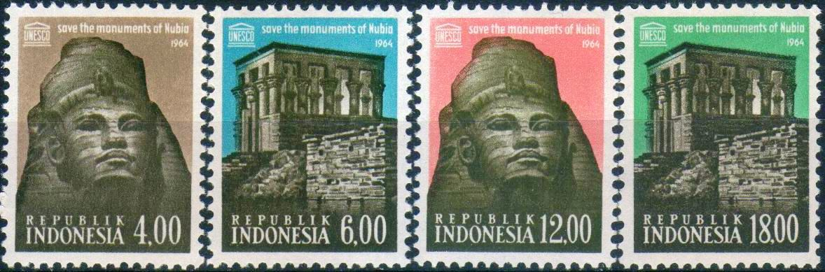 Indonesia 1964 Stamps Save The Monuments Of Nubia Unesco