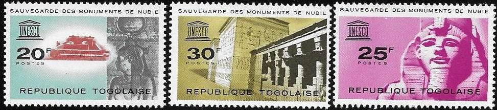 Togolaise 1964 Stamps Save The Monuments Of Nubia MNH