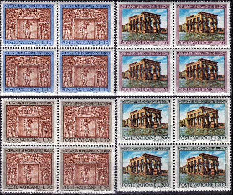 Vaticane 1964 Stamps Save The Monuments Of Nubia Unesco