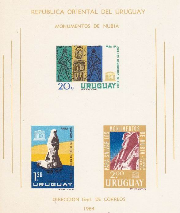 Uruguay 1964 Stamps Save The Monuments Of Nubia Unesco