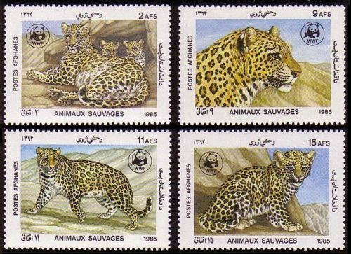 Afghanistan 1989 WWF Stamps Snow Leopard MNH