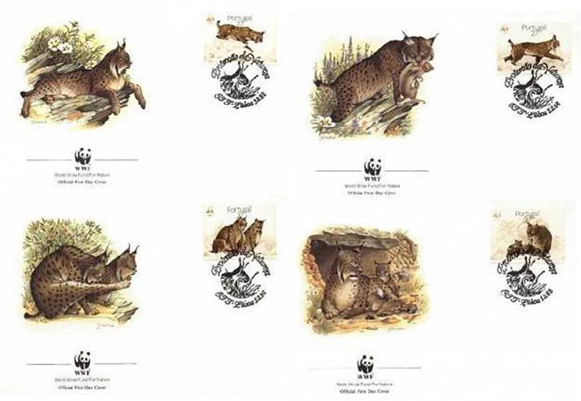 WWF Portugal 1988 Beautiful Fdc Lynx Wild Cat