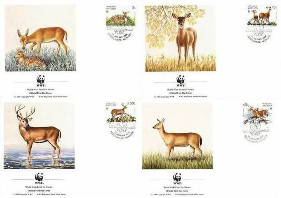 WWF Antillen 1992 Beautiful Fdc Deer