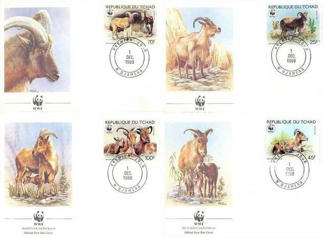 WWF Tchad 1988 Beautiful Fdc Barbary Sheep