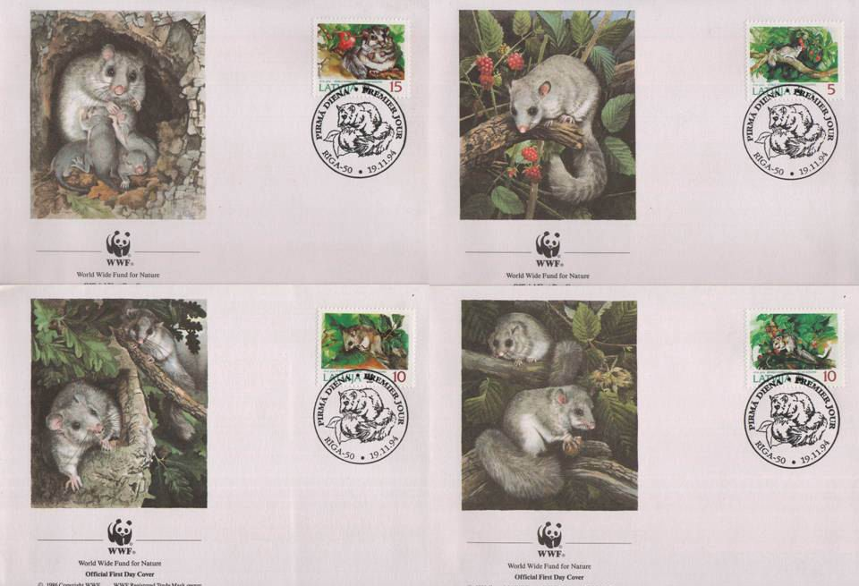 WWF Latvija 1994 Beautiful Fdc Dormouse