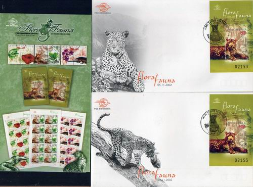 Indonesia 2002 Fdc Clouded Leopard MS On FDC Limited Issue