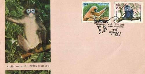 India 1983 Fdc Golden Langur