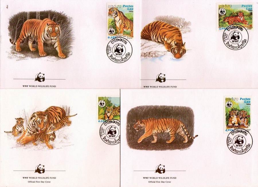 WWF Laos 1984 Beautiful Fdc Tiger
