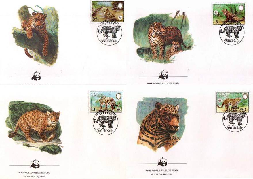 WWF Belize 1983 Beautiful Fdc Jaguar