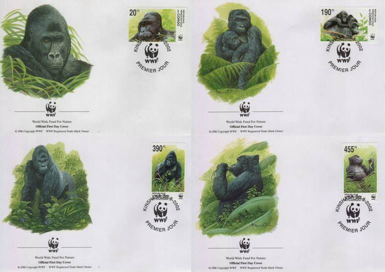 WWF Congo 1992 Beautiful Fdc Gorillas