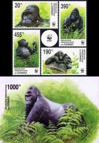 WWF Congo 1992 S/Sheet & Stamps Gorillas