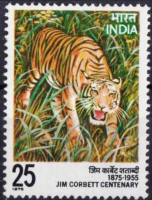 India 1976 Stamps Jim Corbett Great Hunter Of Tigers