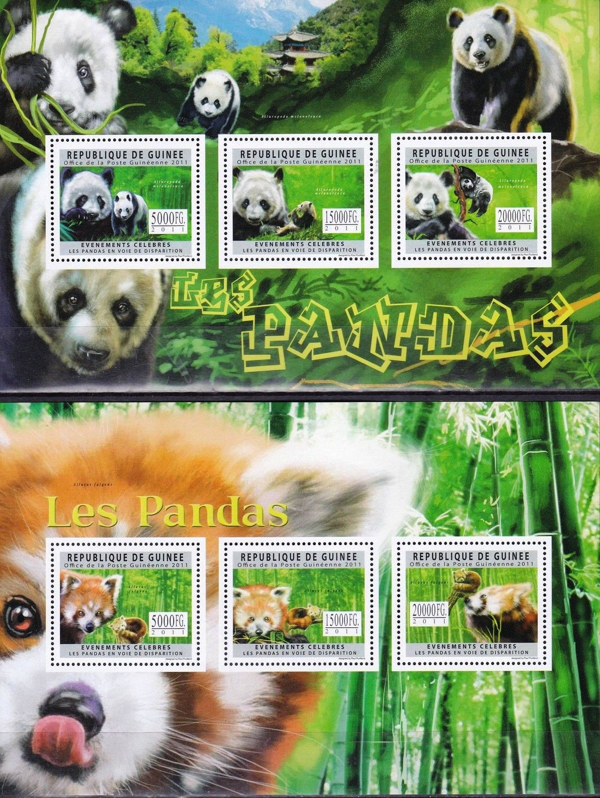 Guinee 2011 S/Sheet Stamp Panda Bear MNH