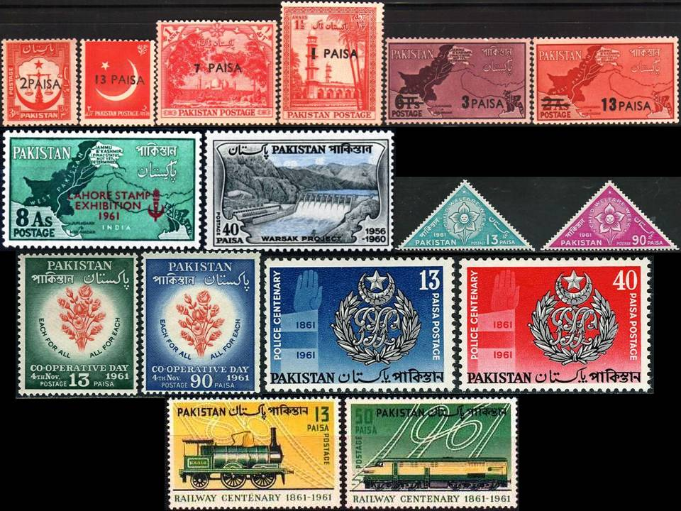 Pakistan Stamps 1961 Year Pack Railway Centenary Police Centy
