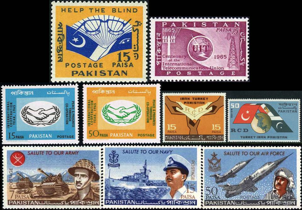 Pakistan Stamps 1965 Year Pack Rcd Armed Forces F 104