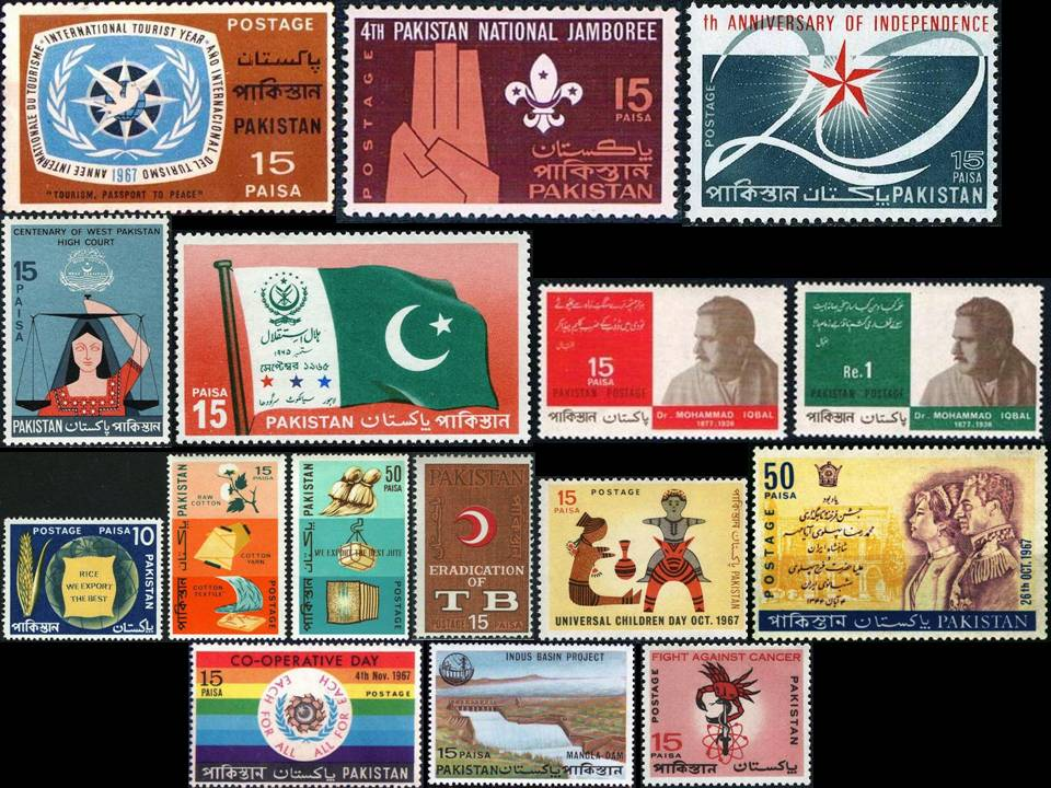 Pakistan Stamps 1967 Year Pack Coronation Reza Shah Iran Tb