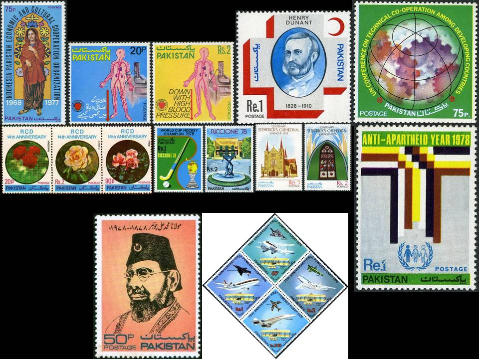 Pakistan Stamps 1978 Year Pack Henri Dunant Hypertension Rcd