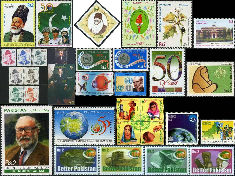 Pakistan Stamps 1998 Year Pack Table Tennis Abdus Salam Nobel Pr