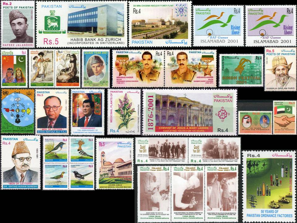 Pakistan Stamps 2001 Year Pack Dialogue Among Civilizations