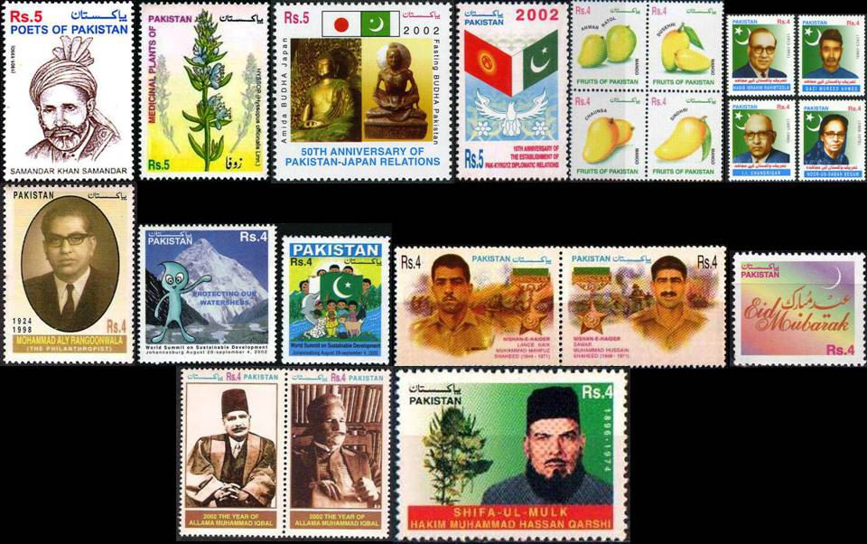 Pakistan Stamps 2002 Year Pack Allama Iqbal Buddha K2 Mountains