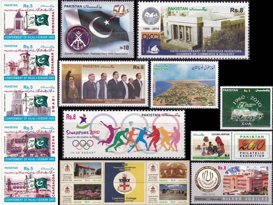 Pakistan Stamps 2010 Year Pack Table Tennis Volleyball