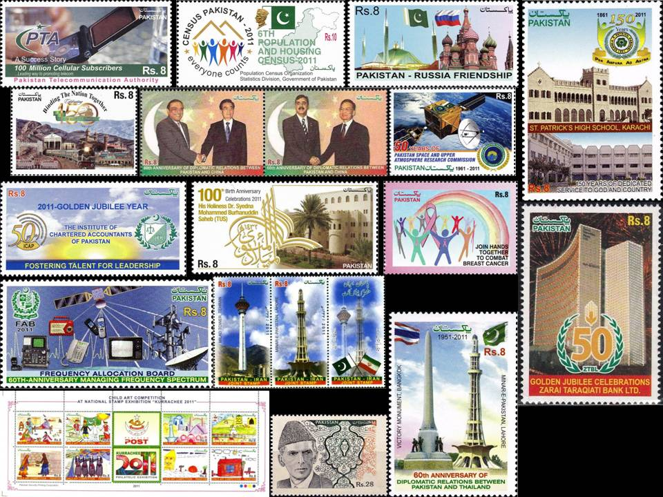 Pakistan Stamps 2011 Year Pack Pakistan Iran Russia Thailand
