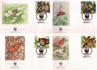 WWF Mexico 1988 Fdcs Monarch Butterflies
