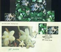 India Fdc 2008 S/Sheet & Stamps Jasmine Fragrance