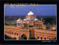 Pakistan Beautiful Postcard Sikh Gurdwara Golden Temple Lahore