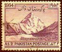 Pakistan Stamps 1954 Conquest Of K2 Mount Godwin USED