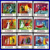 Fujeira 1969 Stamps Art Paintings Shakespeare MNH