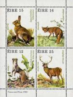 Eireland 1980 Stamps Irish Ermine Hare Hunting Fox Red Deer MNH