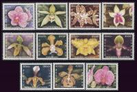 Laos 2003 Stamps Set Orchids MNH