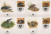 WWF Paraguay 1985 Beautiful Fdc Giant Anteater & Armadillo
